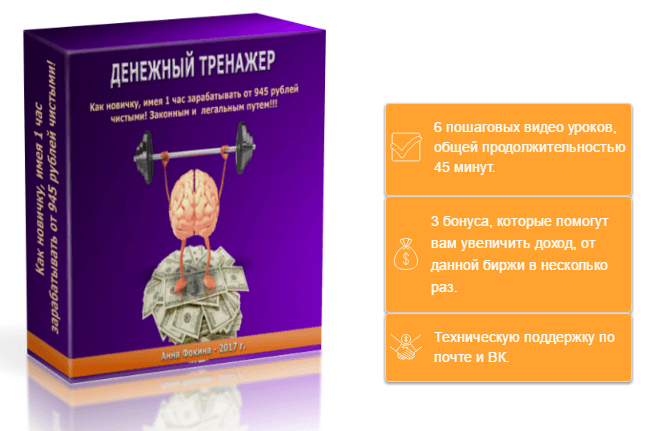 Денежный Тренажер. Анна Фокина