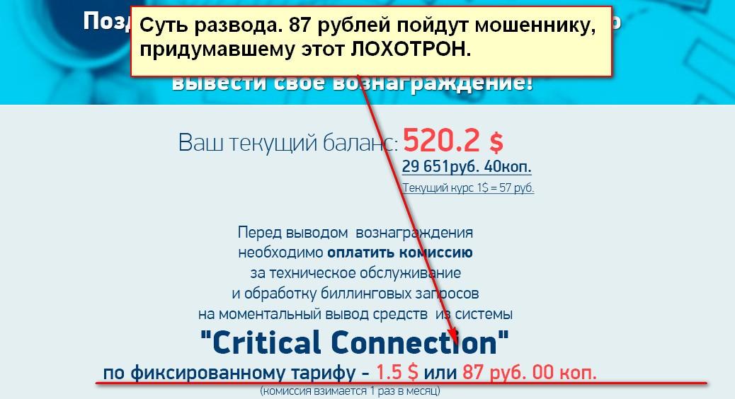 Critical Connection