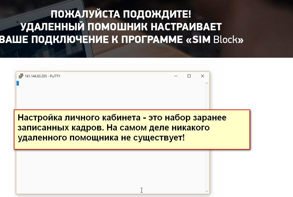 Sim Block, Автоматическая онлайн-программа