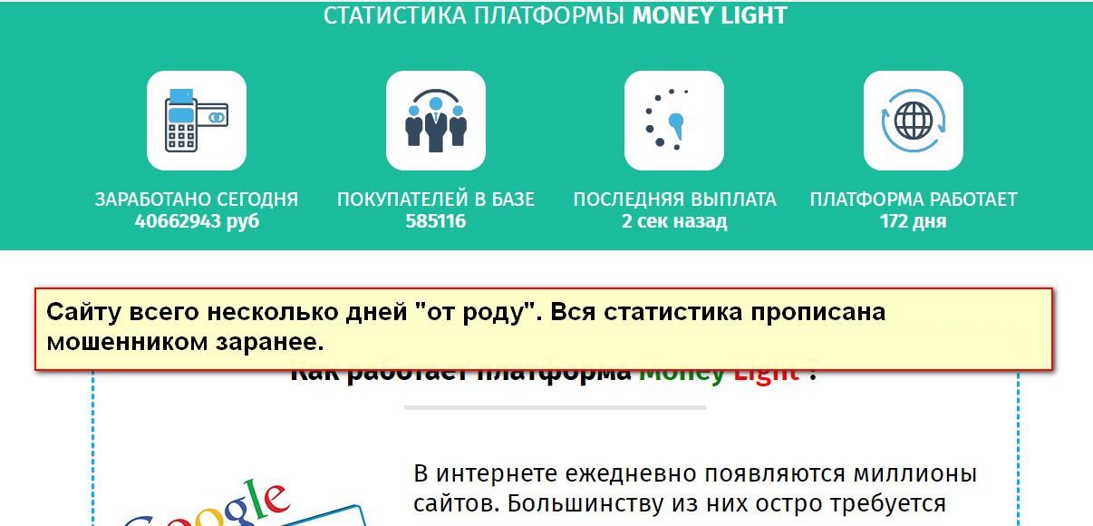 Money Light, купля-продажа интернет-трафика, Money Cool