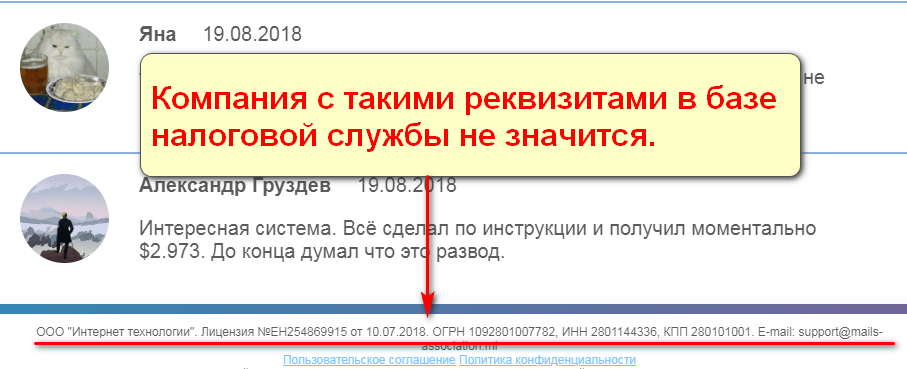 Ежегодная акция E-mail сервисов, E-action 2018, Mails Assotiacion