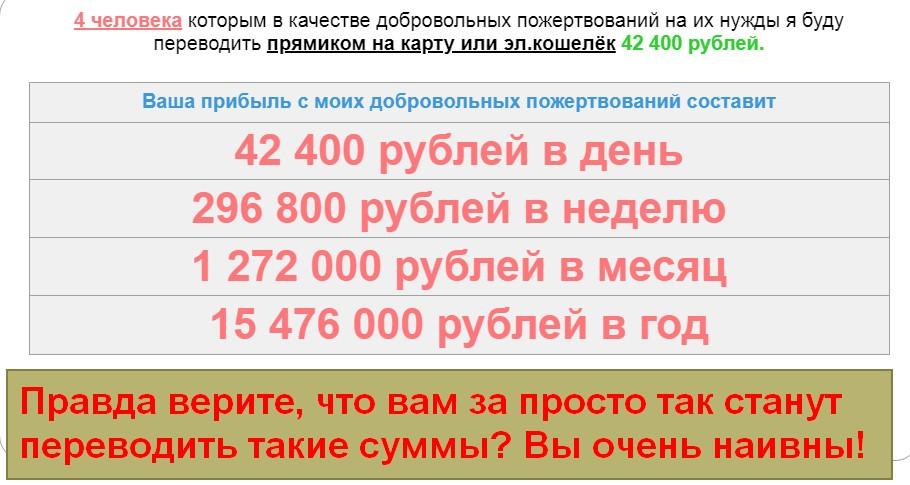 Типаева Наталья, 42 400 рублей ежедневно, компаньоны для сотрудничества