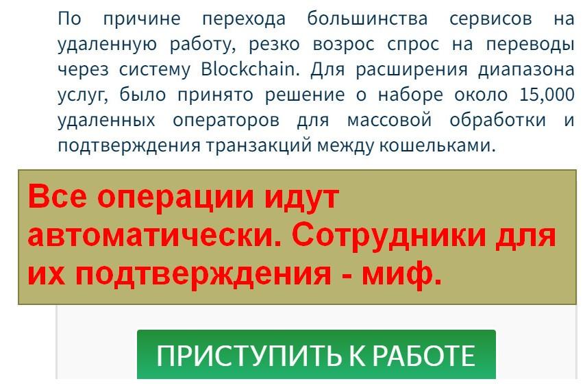 Blockchain_Web, заработок на подтверждении криптовалютных переводов