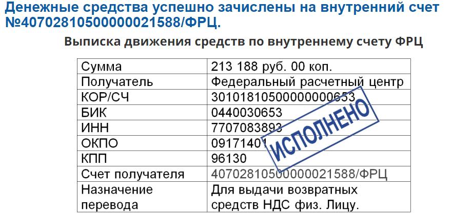 Федеральный Расчетный Центр, ФРЦ